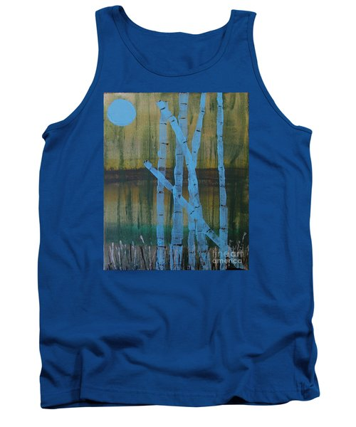 Pale Blue Moon Tank Top
