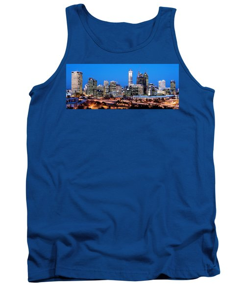 Tank Top featuring the photograph Perth City Night View From Kings Park by Yew Kwang