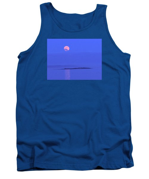 Pink May Moon Tank Top by Francine Frank