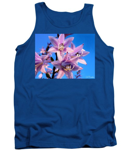 Tank Top featuring the photograph Purple Hosta Blooms by Davandra Cribbie