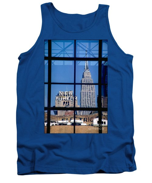 Reflection Empire State Building Tank Top by Mark Gilman