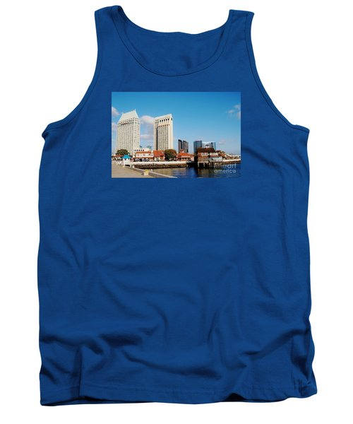 Tank Top featuring the photograph San Diego - Seaport Village by Jasna Gopic