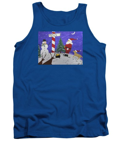 Tank Top featuring the painting Santa Finds Pot Of Gold by Jeffrey Koss