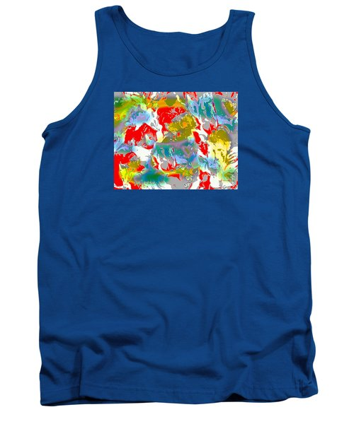 Tank Top featuring the digital art Secrets by Beth Saffer