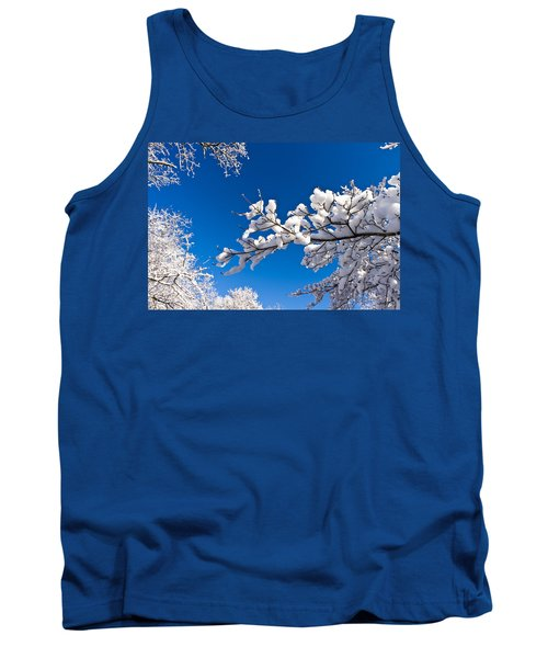 Snowy Trees And Blue Sky Tank Top