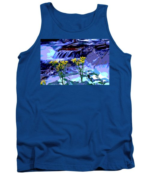 Stream And Flowers Tank Top