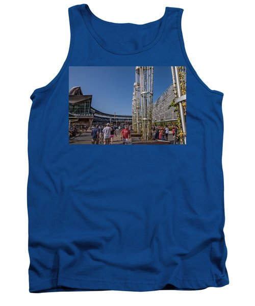 Tank Top featuring the photograph Target Plaza by Tom Gort