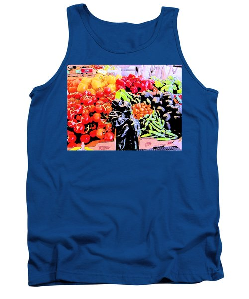 Tank Top featuring the photograph Vegetables On Display by Kym Backland