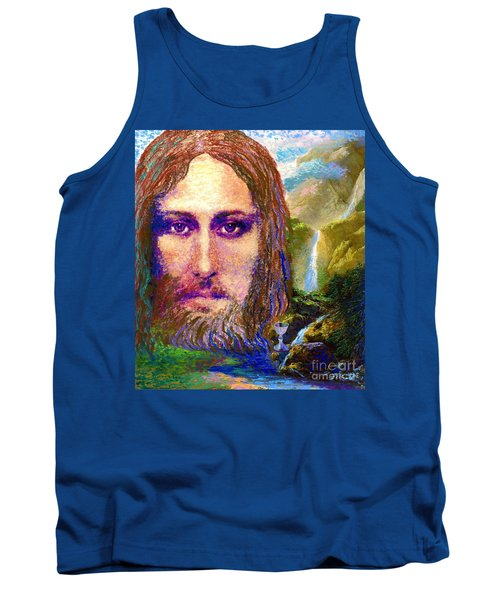 Contemporary Jesus Painting, Chalice Of Life Tank Top
