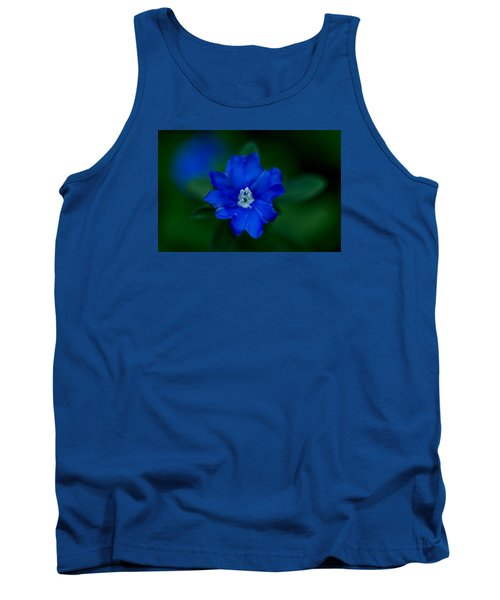 Tank Top featuring the photograph  Evolvulus Glomeratus Hawaiian Blue Eyes by Keith Hawley