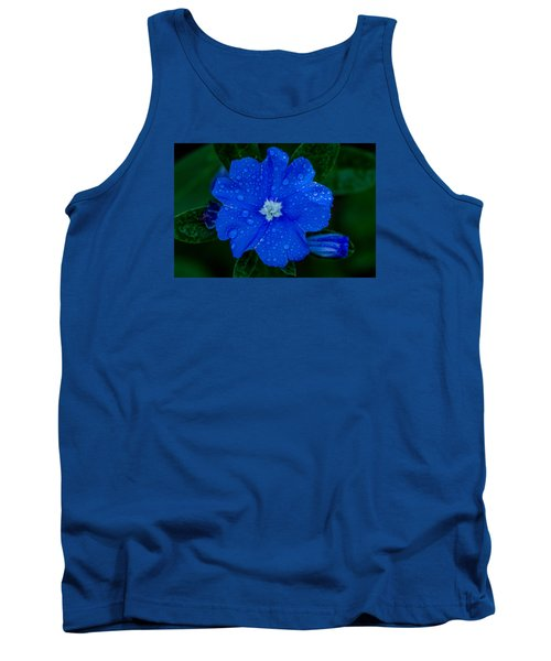 Tank Top featuring the photograph  Evolvulus Glomeratus by Keith Hawley