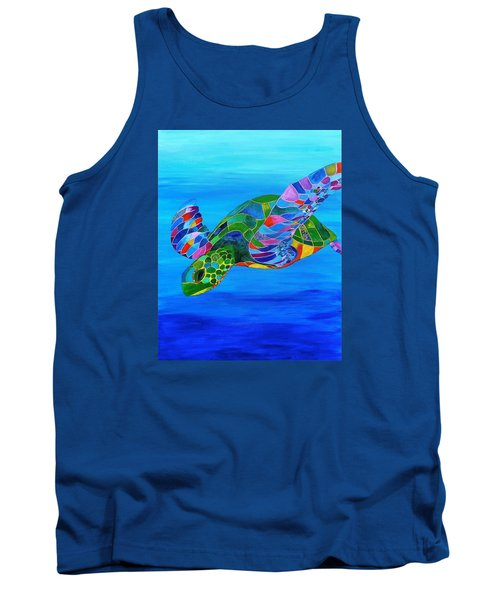 Abstract Mehndi Sea Turtle  Tank Top