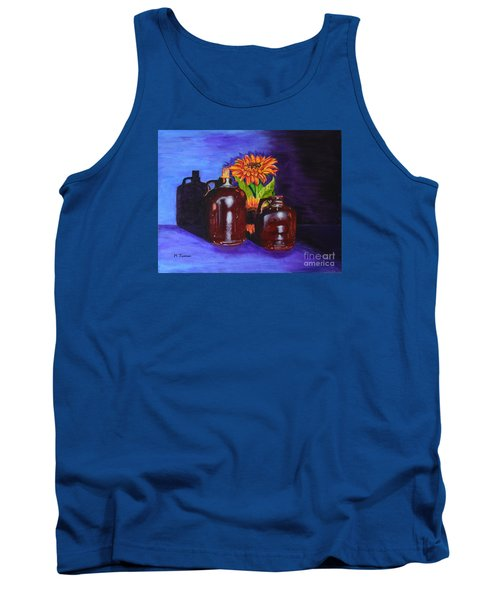 Tank Top featuring the painting 2 Old Jugs by Melvin Turner