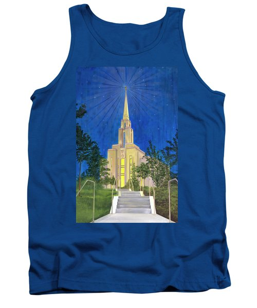 Tank Top featuring the painting Angel Portal by Jane Autry