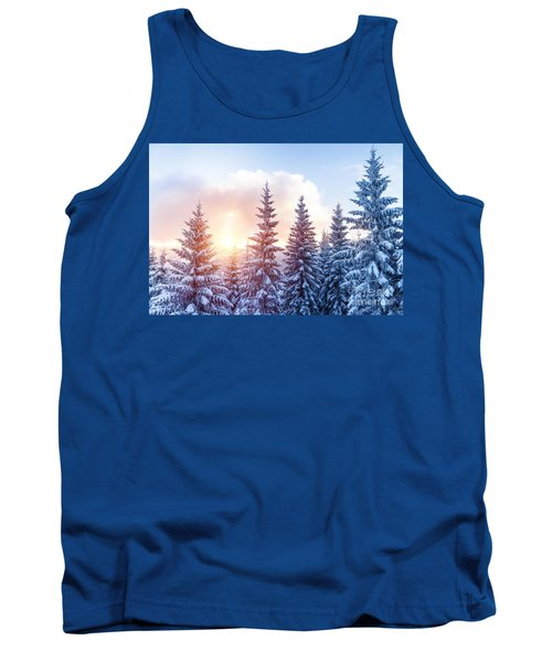 Beautiful Winter Forest Tank Top