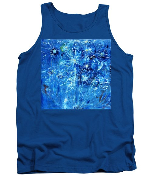 Blue Design Tank Top