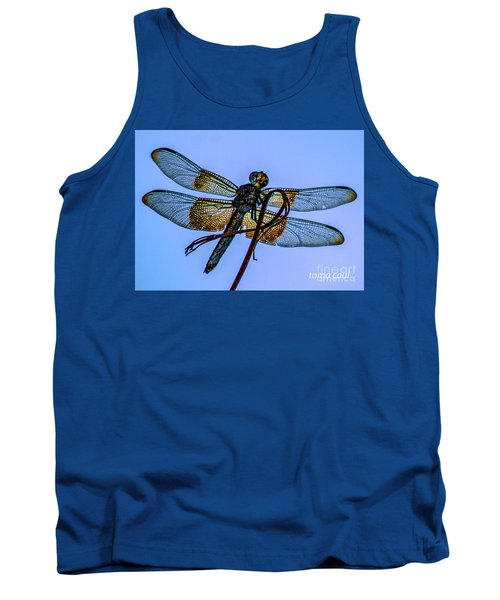 Blue Dragonfly Tank Top by Toma Caul