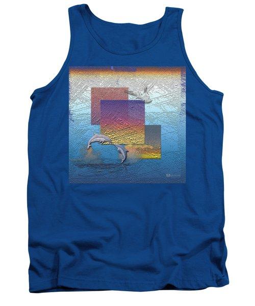 Blue Lagoon Sunrise  Tank Top