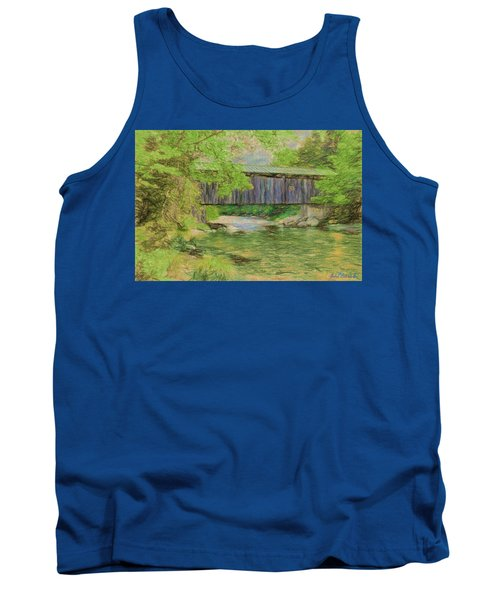 Tank Top featuring the digital art Cool And Green And Shady by John Selmer Sr