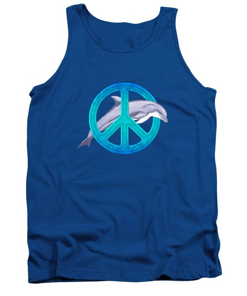 Dolphin Peace Tank Top by Chris MacDonald