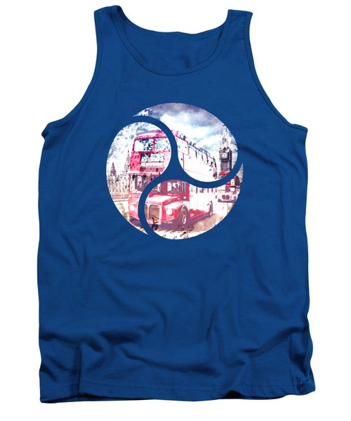 Graphic Art London Westminster Bridge Streetscene Tank Top