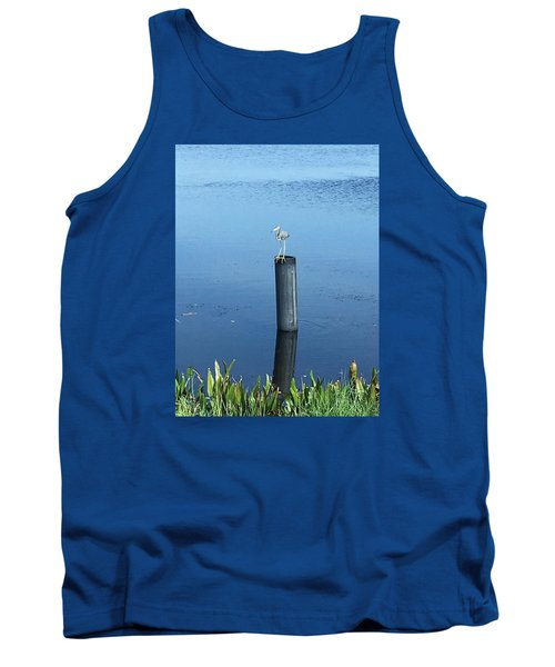 Little Blue Heron Tank Top by Kay Gilley