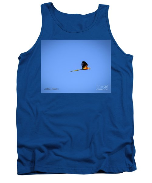 Macaw In Flight Tank Top by Melissa Messick
