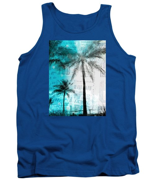 Miami Palm Trees Tank Top by France Laliberte