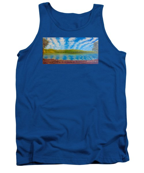 My Serenity Lies In A Place Between Heaven And Earth Tank Top