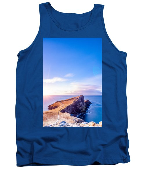 Neist Point Lighthouse At Dawn Tank Top