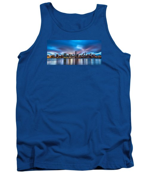 Tank Top featuring the photograph New York City Skyline by Rafael Quirindongo