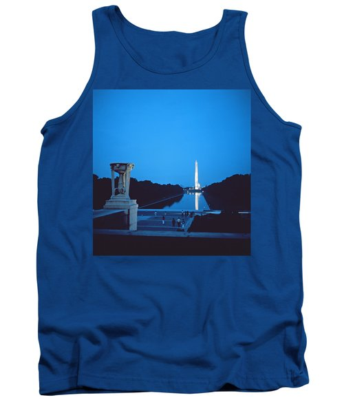 Night View Of The Washington Monument Across The National Mall Tank Top by American School