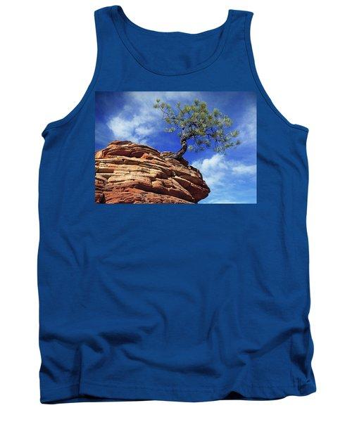 Pine Tree In Sandstone Tank Top