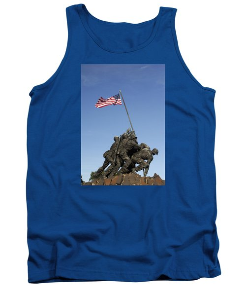 Raising The Flag On Iwo - 799 Tank Top by Paul W Faust -  Impressions of Light