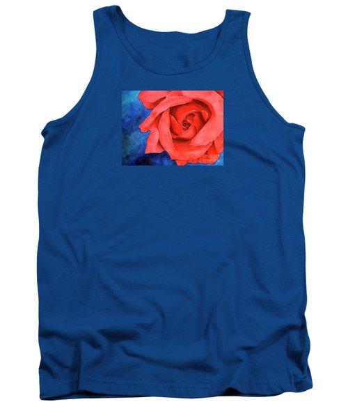Red Rose Tank Top by Rebecca Davis
