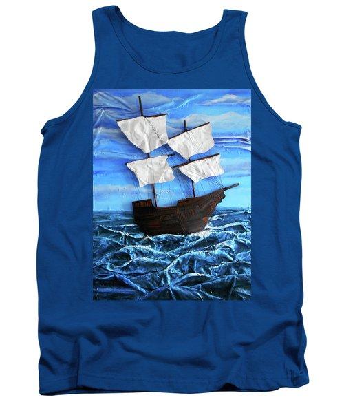 Ship Tank Top by Angela Stout