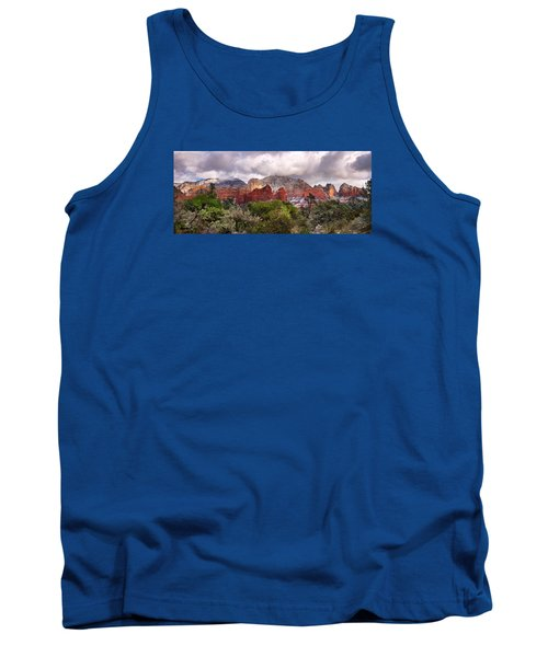 Snow In Heaven Panorama Tank Top