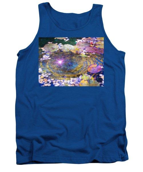 Sunglint On Autumn Lily Pond II Tank Top