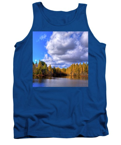 Tank Top featuring the photograph Tamaracks At Woodcraft Camp by David Patterson
