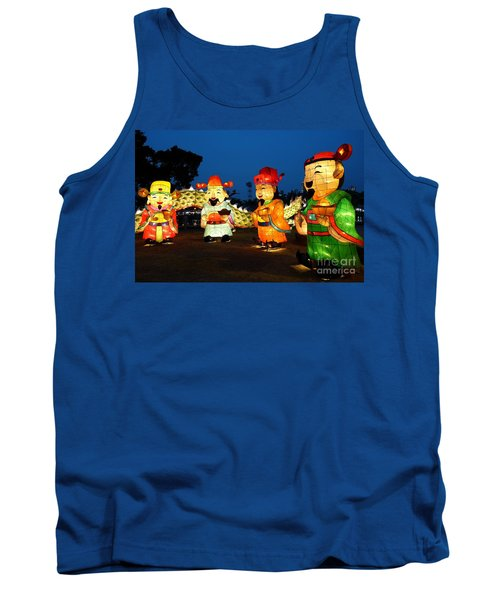 Tank Top featuring the photograph The 2017 Lantern Festival In Taiwan by Yali Shi