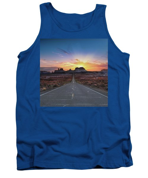 The Long Road To Monument Valley Tank Top