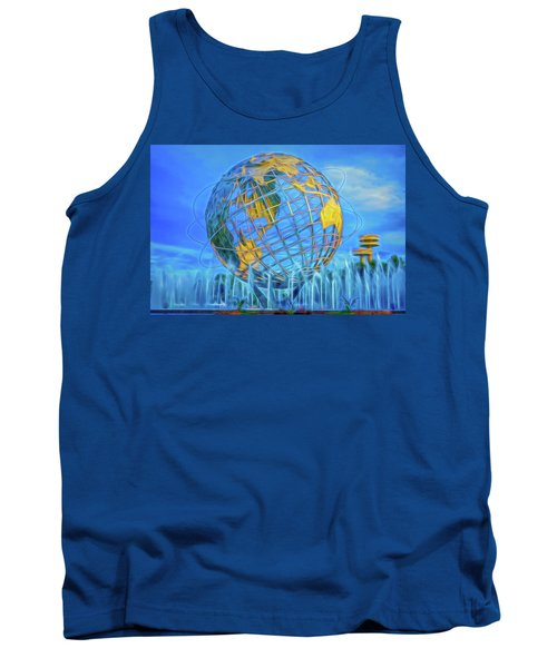 Tank Top featuring the photograph The Unisphere by Theodore Jones