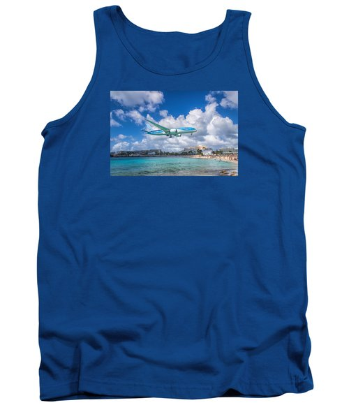 Tui Airlines Netherlands Landing At St. Maarten Airport. Tank Top by David Gleeson