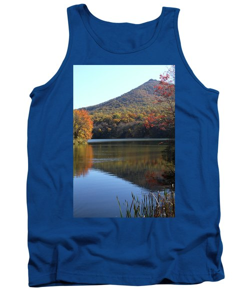View Of Abbott Lake And Sharp Top In Autumn Tank Top by Emanuel Tanjala