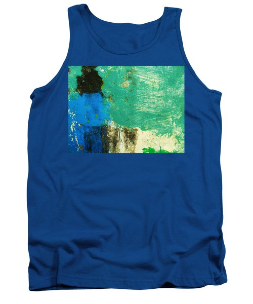 Tank Top featuring the photograph Wall Abstract 70 by Maria Huntley