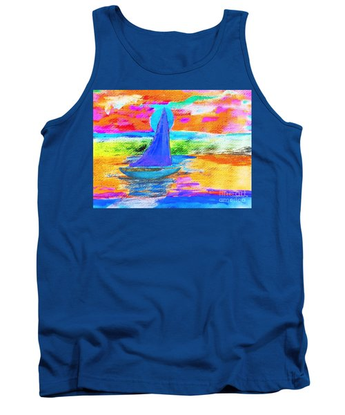 Watercolor Sailing Tank Top