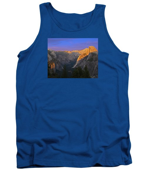 Tank Top featuring the photograph Yosemite Summer Sunset 2012 by Walter Fahmy