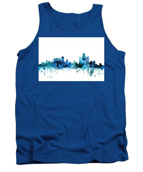 Detroit Michigan Skyline Tank Top