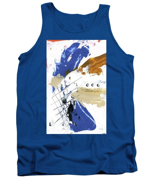 Tank Top featuring the painting Three Color Palette by Michal Mitak Mahgerefteh