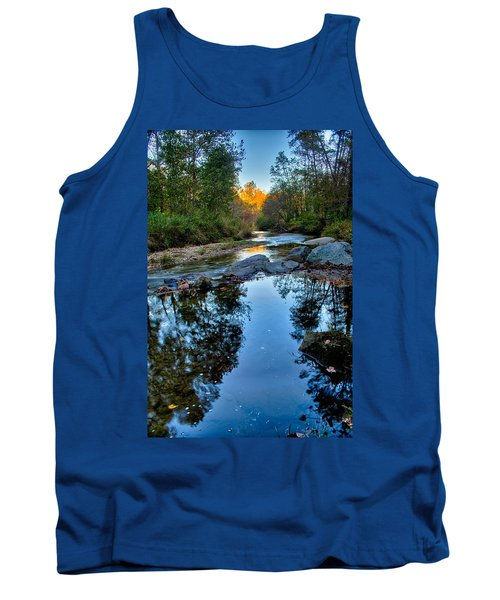 Stone Mountain North Carolina Scenery During Autumn Season Tank Top